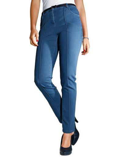 MIAMODA Jeans mit streckender Längsnaht
