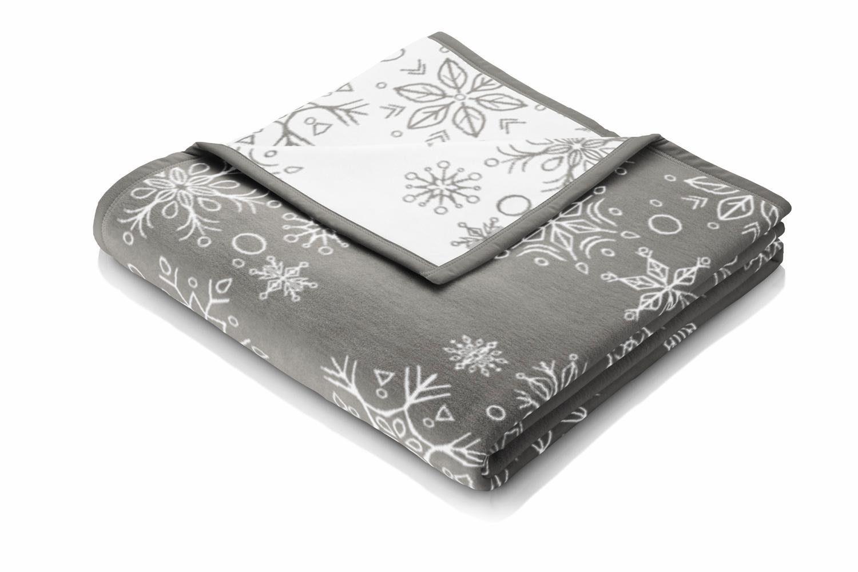 Wohndecke, Biederlack, »Big Snowflakes«, im zauberhaften Winter Design