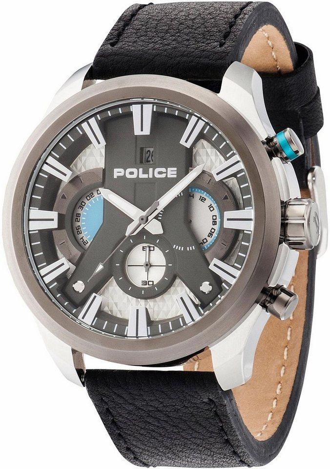 Police Chronograph »CYCLONE, PL14639JSTU.04« in schwarz