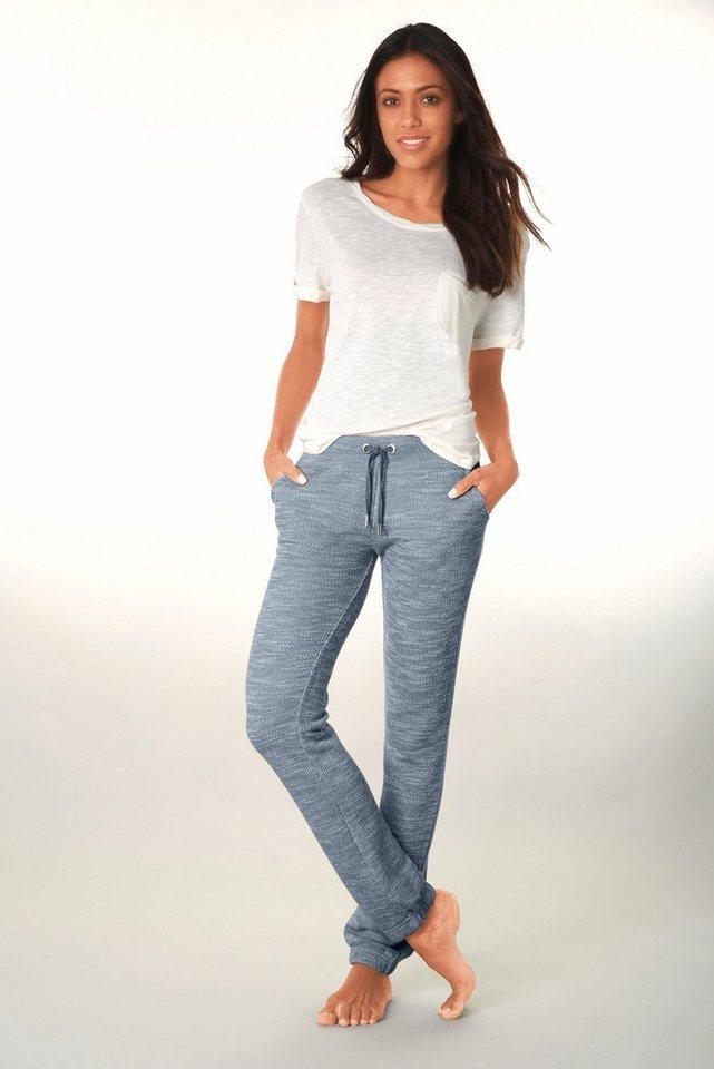 Bench Relaxhose in jeans-ecru meliert