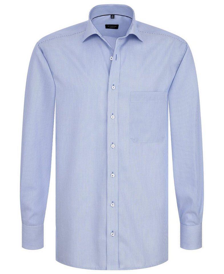 ETERNA Langarm Hemd »COMFORT FIT« in blau/weiß