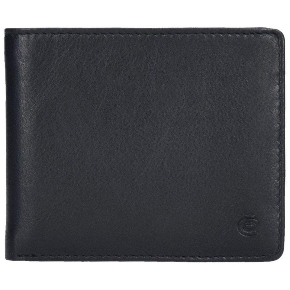 Esquire Compact Geldbörse Leder 11 cm in schwarz