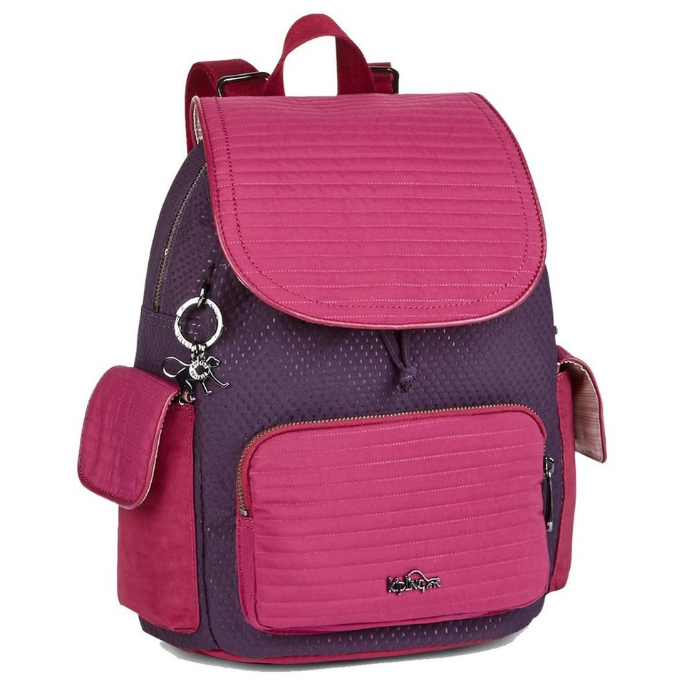 Kipling Twist City Pack S Rucksack 33,5 cm in craft berry blk