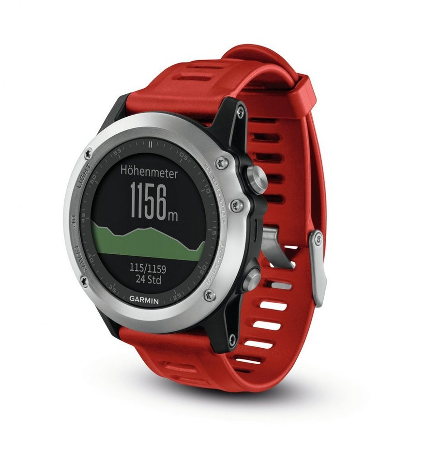 Garmin Sportuhr »Fenix 3 GPS Multisportuhr Performer Bundle« in silber