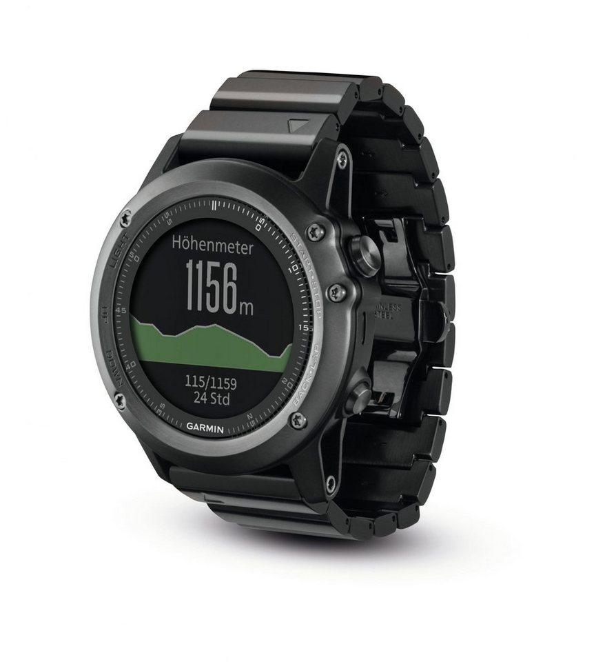 Garmin Sportuhr »Fenix 3 Saphir GPS Multisportuhr« in grau