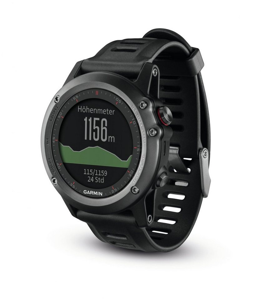 Garmin Sportuhr »Fenix 3 GPS Multisportuhr Performer Bundle« in schwarz