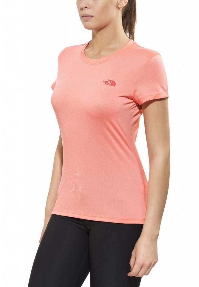 The North Face T-Shirt »Reaxion Amp Crew S/S Shirt Women« in orange