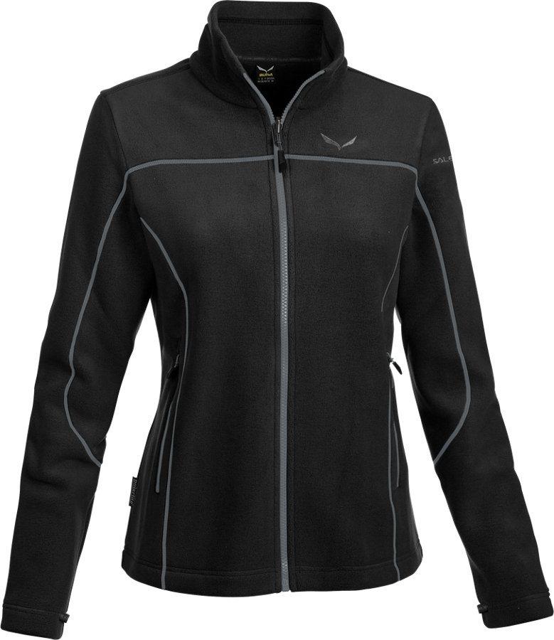 Salewa Outdoorjacke »Fanes Buffalo PL Full Zip Jacket Women« in schwarz