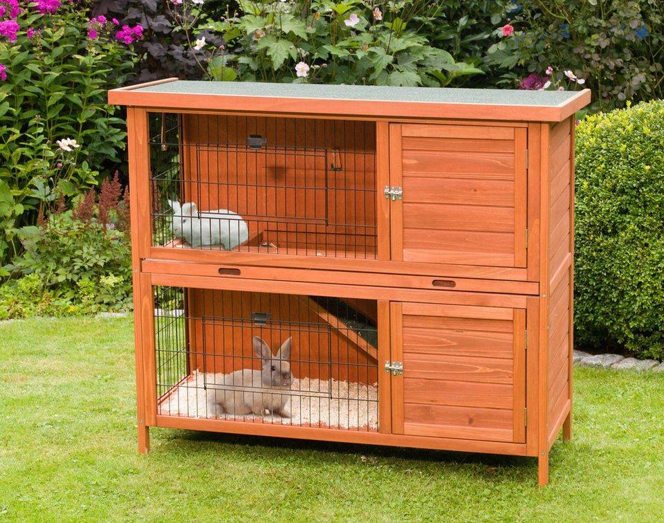 Kaninchenstall »Eddy« in braun