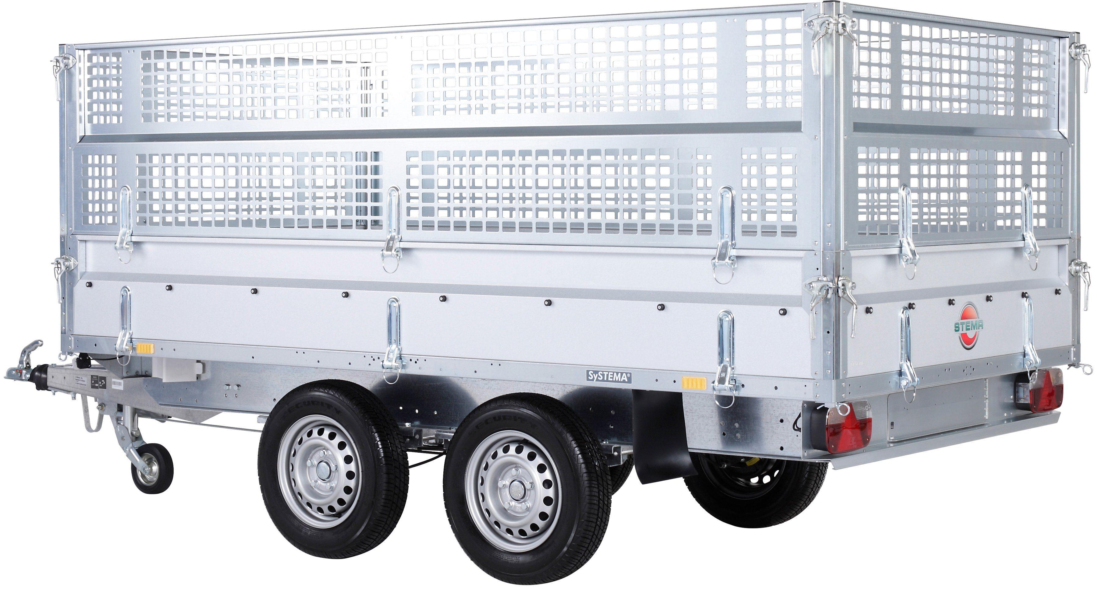 Stema Set: PKW-Anhänger »Rückwärtskipper 2,7 t«, inkl. E-Hydraulikset und Gitteraufsatz