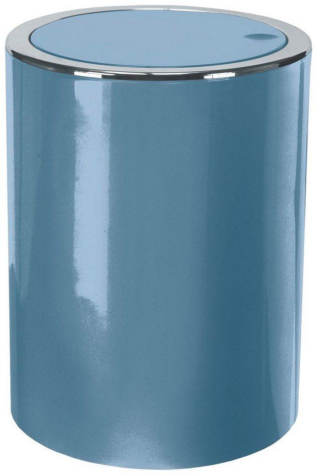 Schwingdeckel-Abfalleimer »Clap« in stahlblau