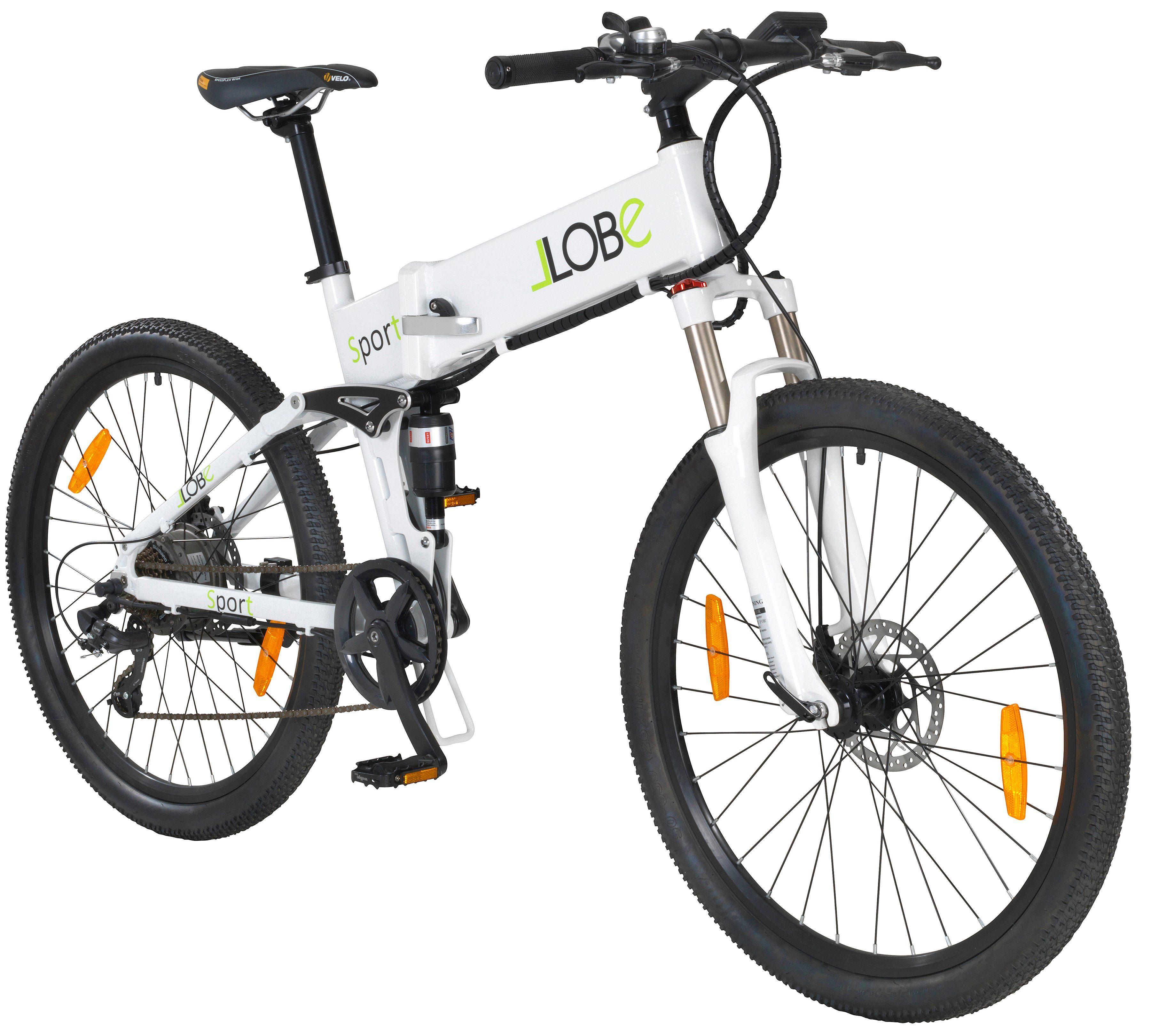 LLOBE E-Bike Klapprad »Sport«, 26 Zoll, 7 Gang, Heckmotor, 281 Wh