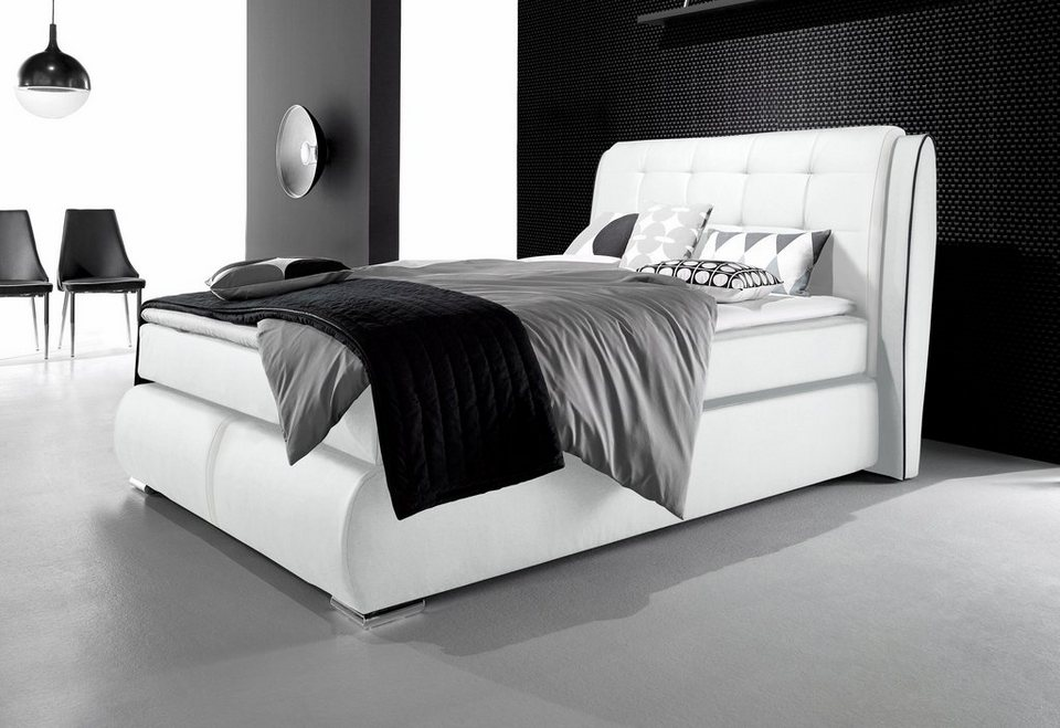 inosign boxspringbett mit gestepptem kopfteil otto. Black Bedroom Furniture Sets. Home Design Ideas