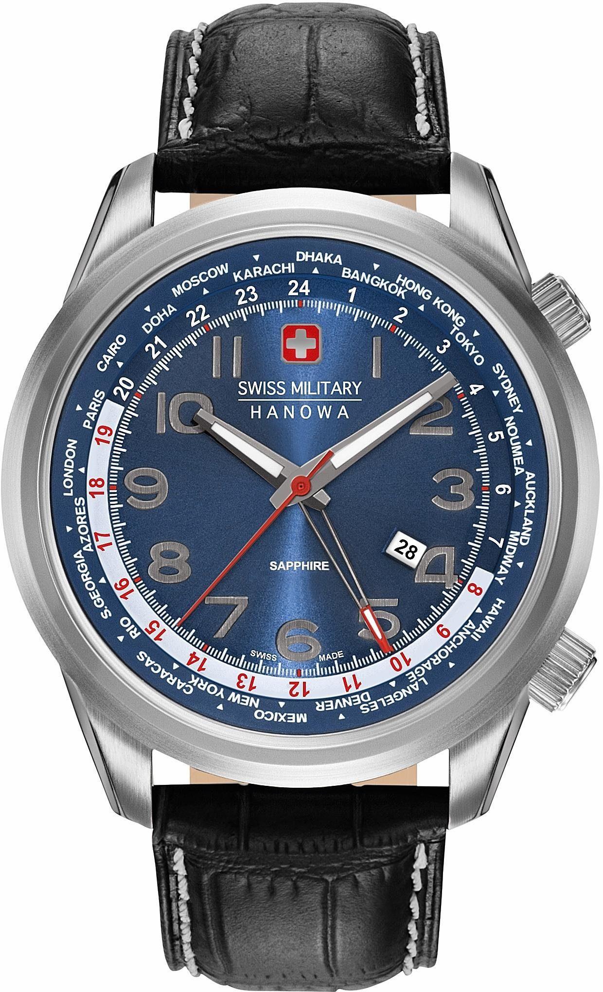 Swiss Military Hanowa Quarzuhr »WORLDTIMER, 6-4293.04.003«