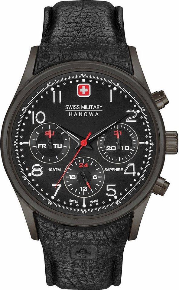 Swiss Military Hanowa Multifunktionsuhr »NAVALUS MULTIFUNCTION, 6-4278.13.007« in schwarz