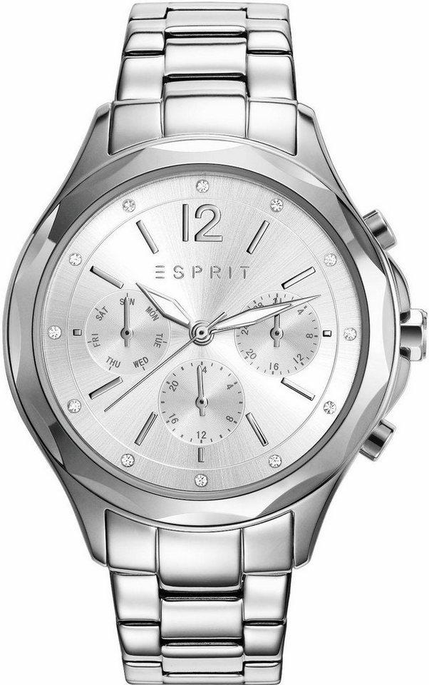Esprit Multifunktionsuhr »ESPRIT-TP10924 SILVER, ES109242001« in silberfarben