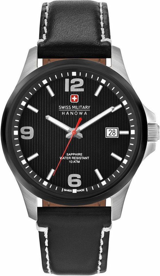 Swiss Military Hanowa Quarzuhr »OBSERVER, 6-4277.33.007« in schwarz