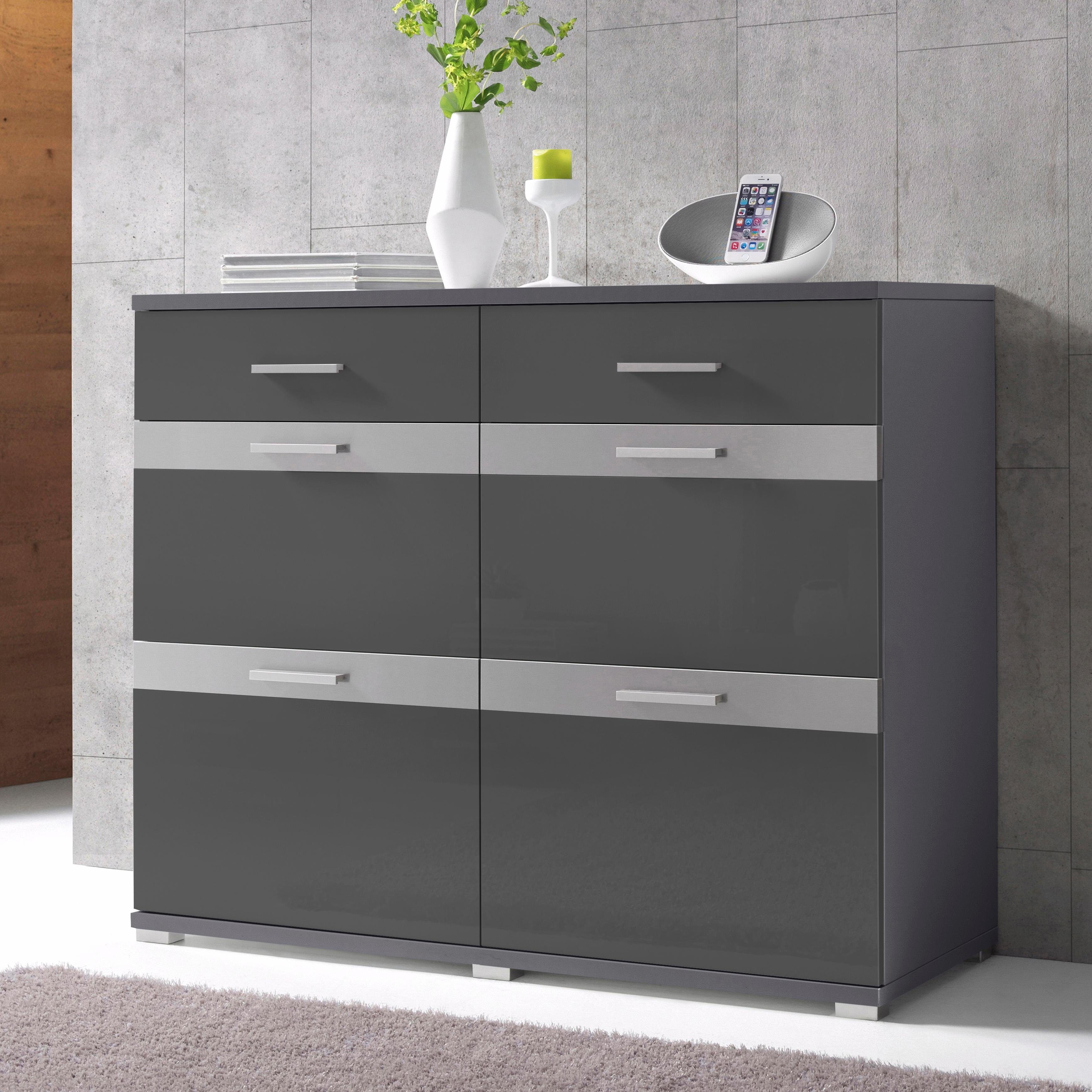 kommode anthrazit hochglanz wohndesign und einrichtungs ideen. Black Bedroom Furniture Sets. Home Design Ideas