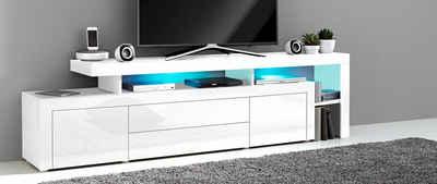 Lowboard weiß hochglanz 3m  TV-Lowboard & TV-Bank online kaufen | OTTO