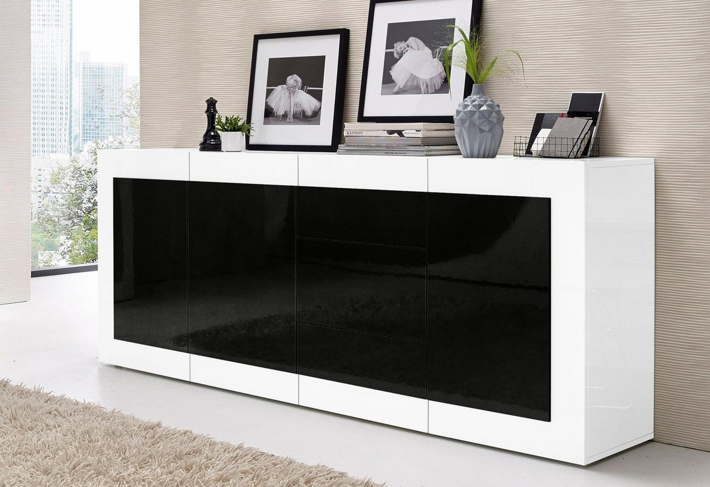 sideboard weiss vitrine preisvergleiche. Black Bedroom Furniture Sets. Home Design Ideas