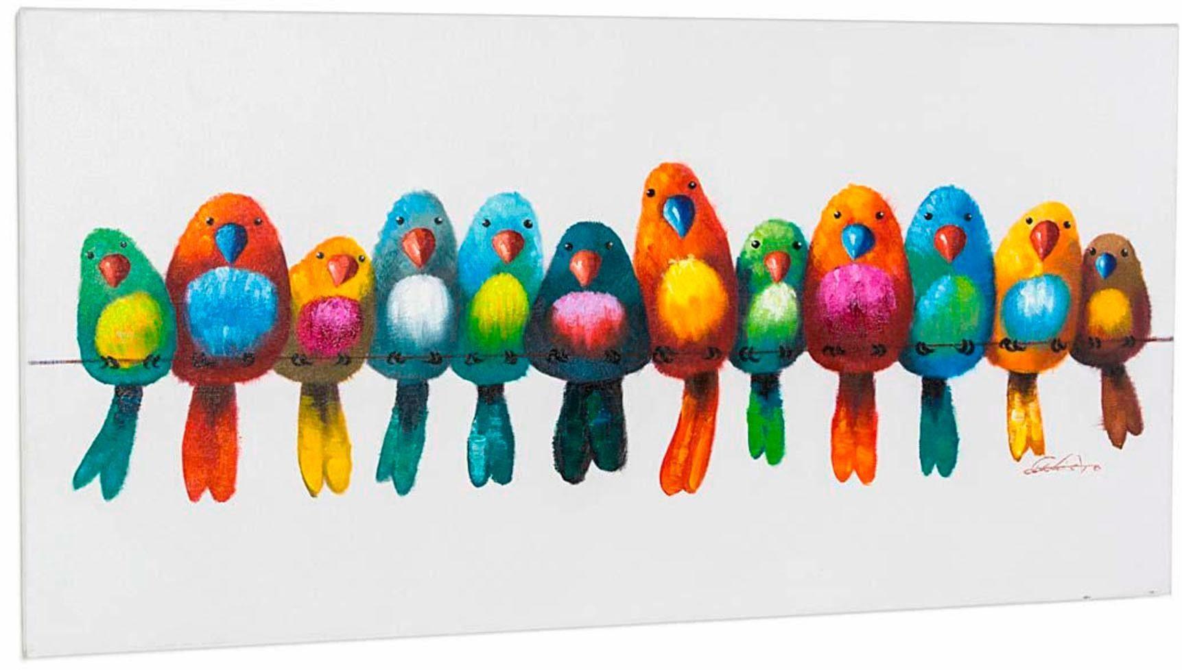 Home affaire, Acryl Bild, »Bunte Vögel«, 120/60 cm