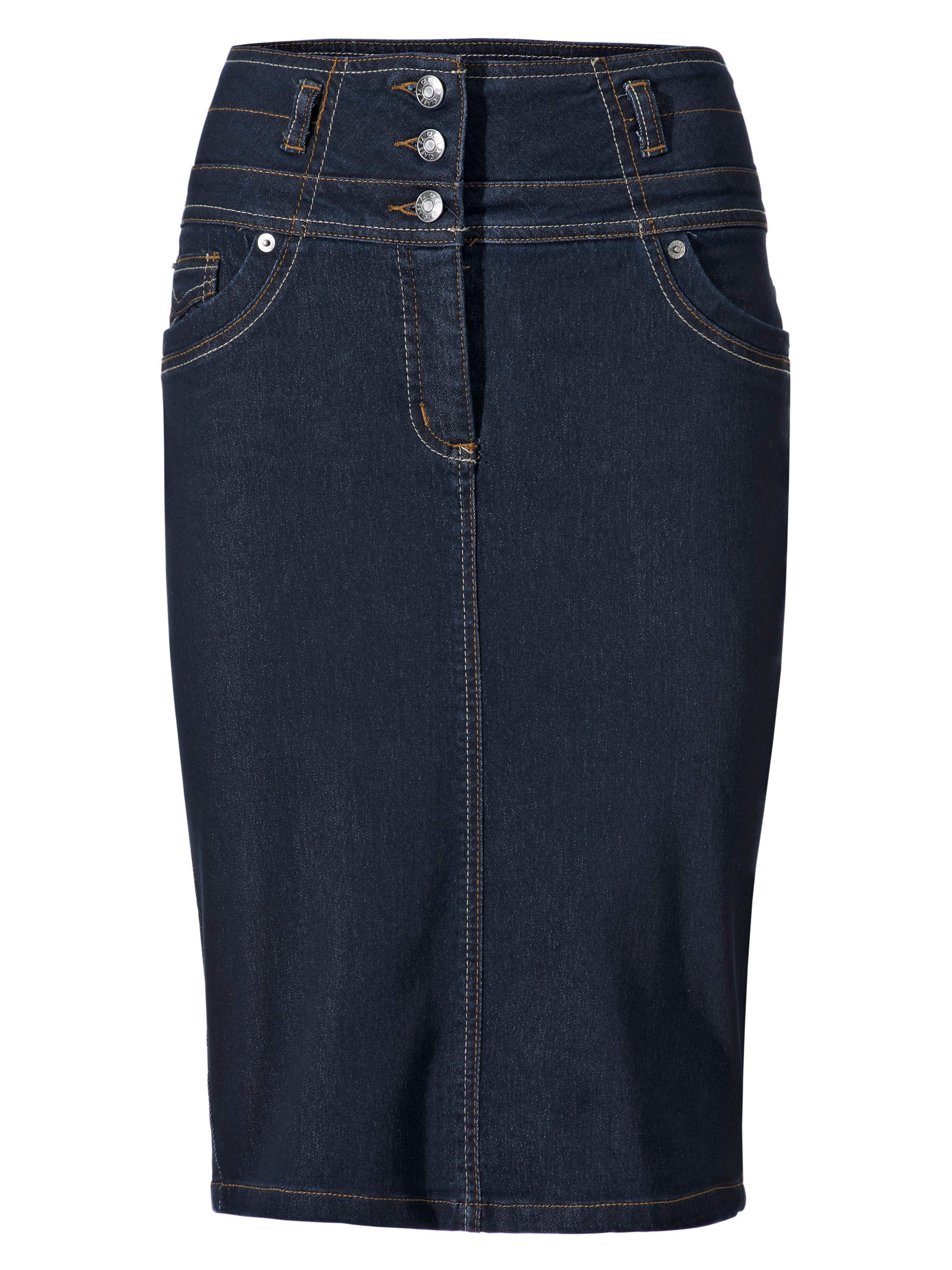 34-46 Blue Heine Jeans Rock Stiefelrock Gr NEU 992