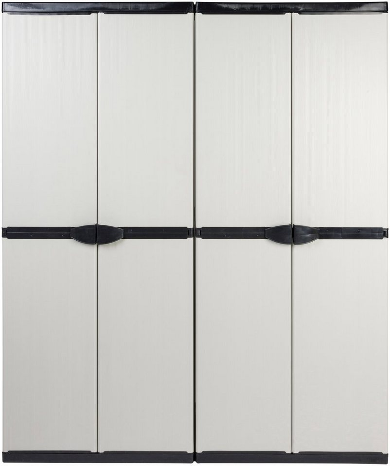 Set:»Universalschrank ´´Armadio´´ mit 3 Böden + Universal-Spindschrank ´´Armadio´´« | Baumarkt > Werkzeug > Werkzeugkasten | Grau | Kreher
