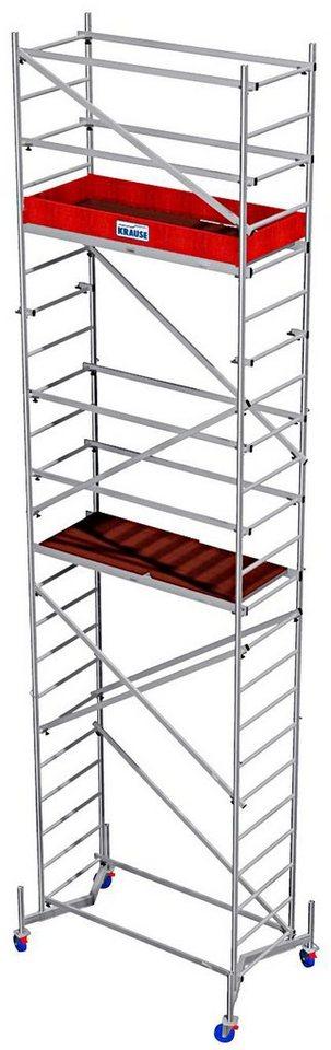 Krause Arbeitsgerüst »ClimTec Alu-Komplettgerüst«, inkl. Grundgerüst sowie 1. und 2. Aufstockung in silberfarben