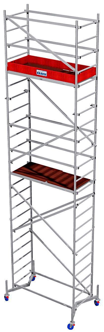 Krause Arbeitsgerüst »ClimTec Alu-Komplettgerüst«, inkl. Grundgerüst sowie 1. und 2. Aufstockung