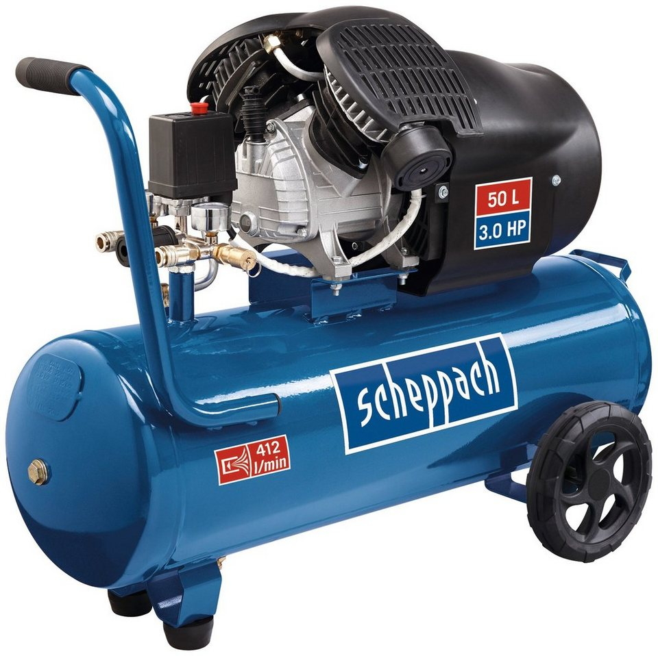 scheppach doppelzylinder kompressor hc53dc otto