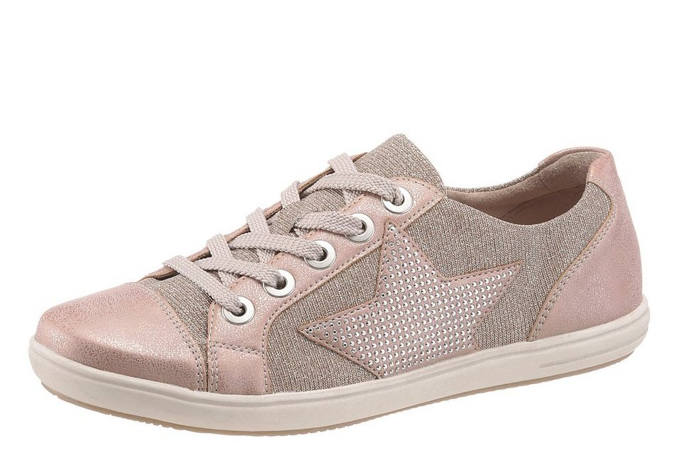 Remonte Sneaker in glitzernder Optik in rosé