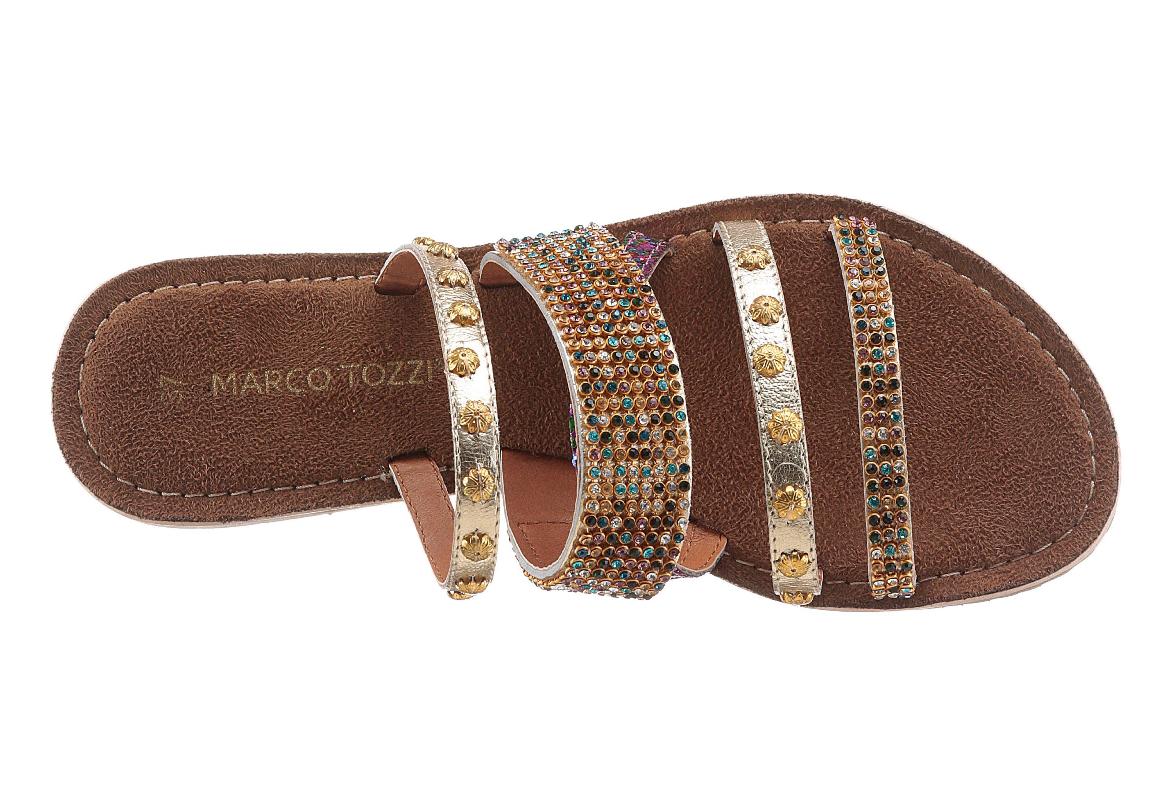 Marco Tozzi Pantolette, reich verziert kaufen  goldfarben