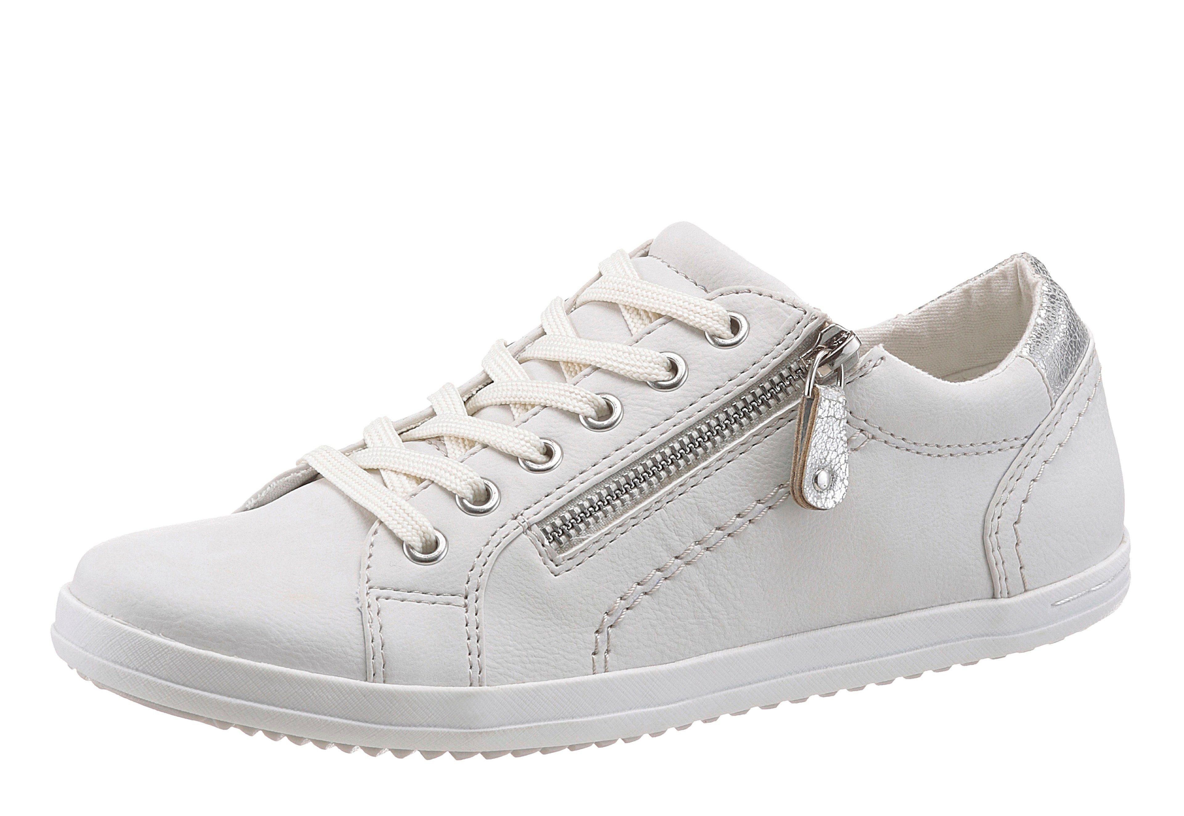 Arizona Sneaker, mit Zierreißverschluss, beige, 41 41