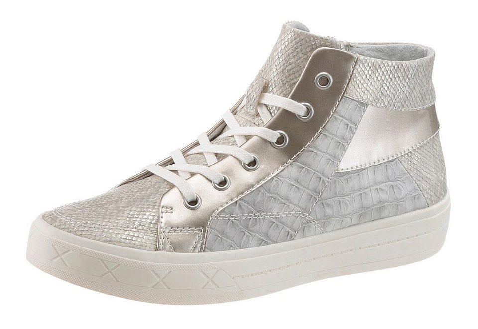 Tamaris Sneaker in hellgrau-silberfarben