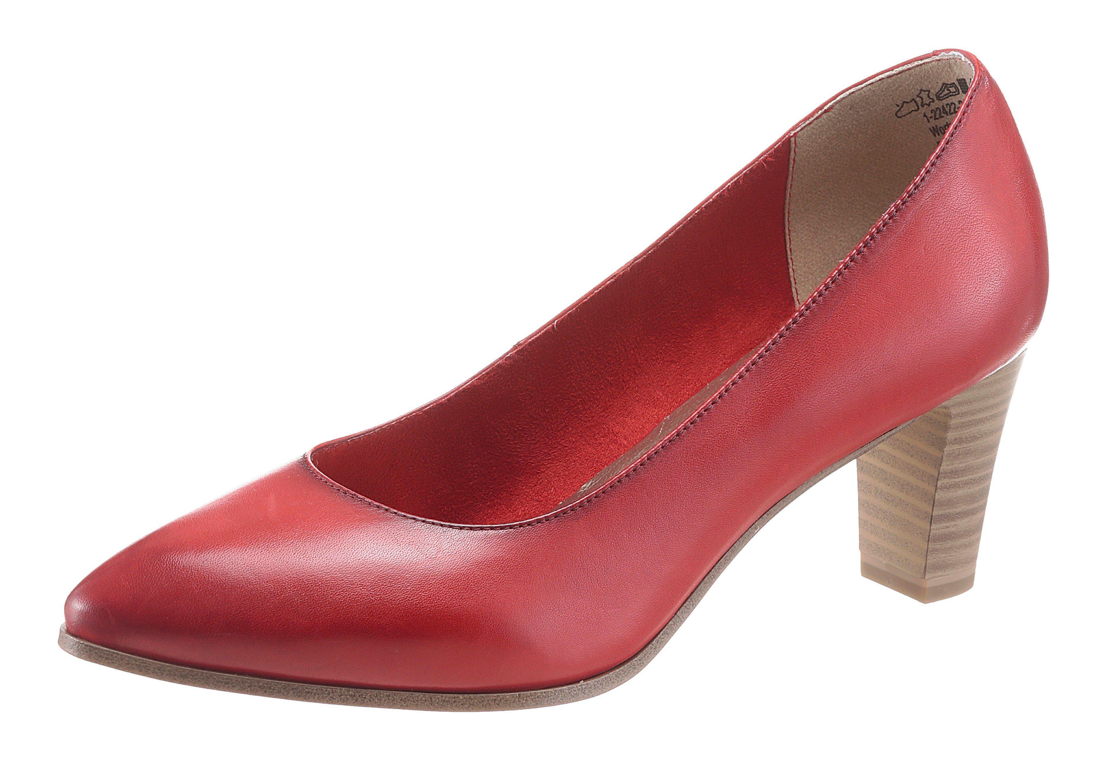 Tamaris Pumps, in eleganter spitzer Form kaufen  rot