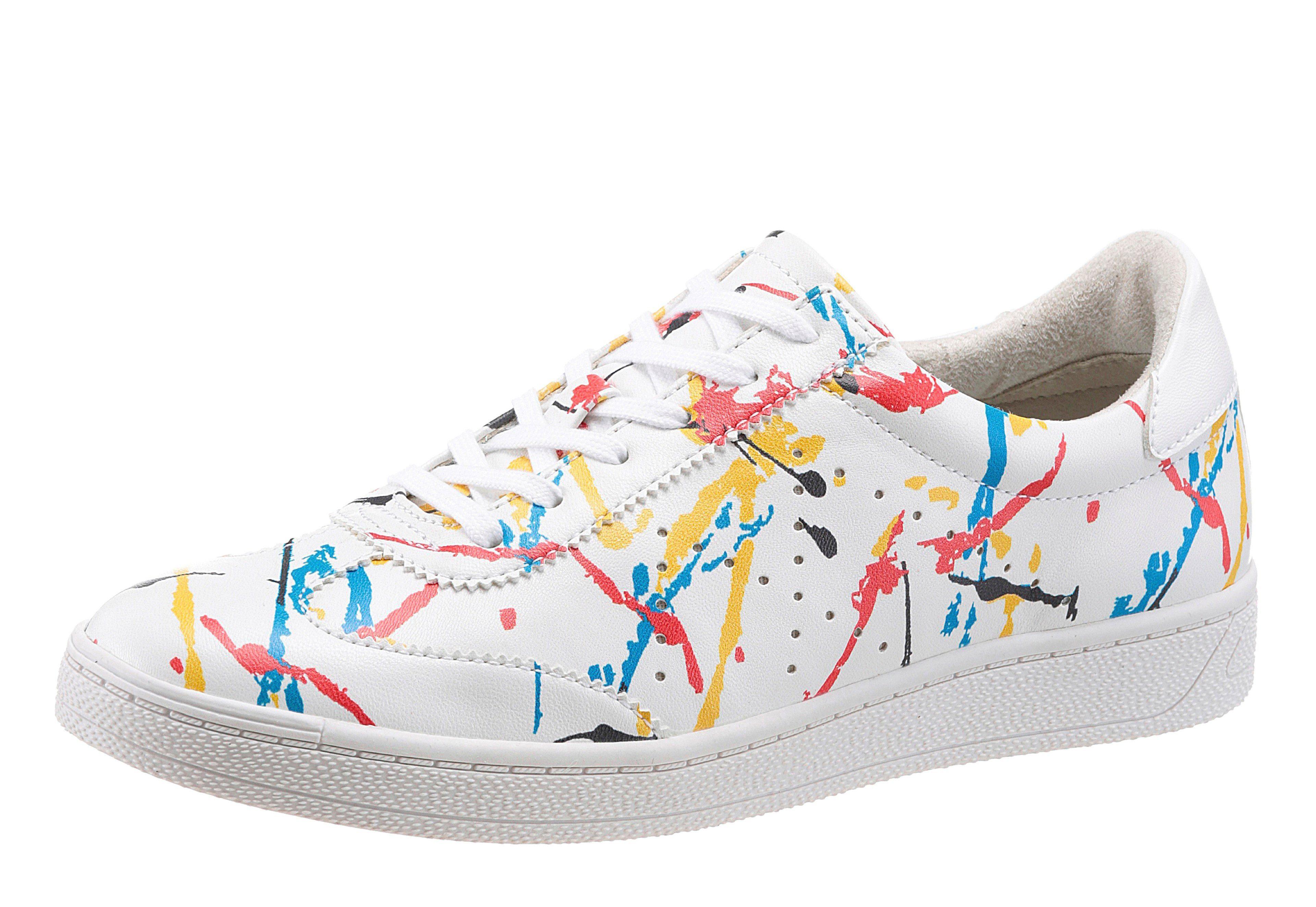 Tamaris »Fashletics« Sneaker, mit farbigen Kontrastbesätzen, weiß, weiß-multi