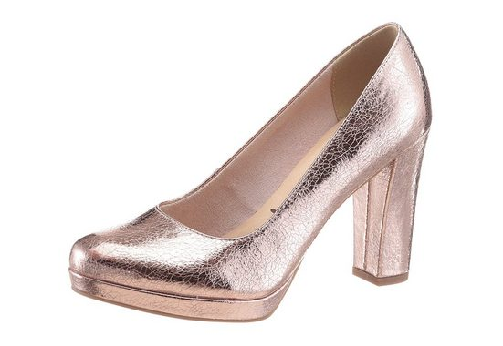 Tamaris High-Heel-Pumps, im schönen Metallic-Look
