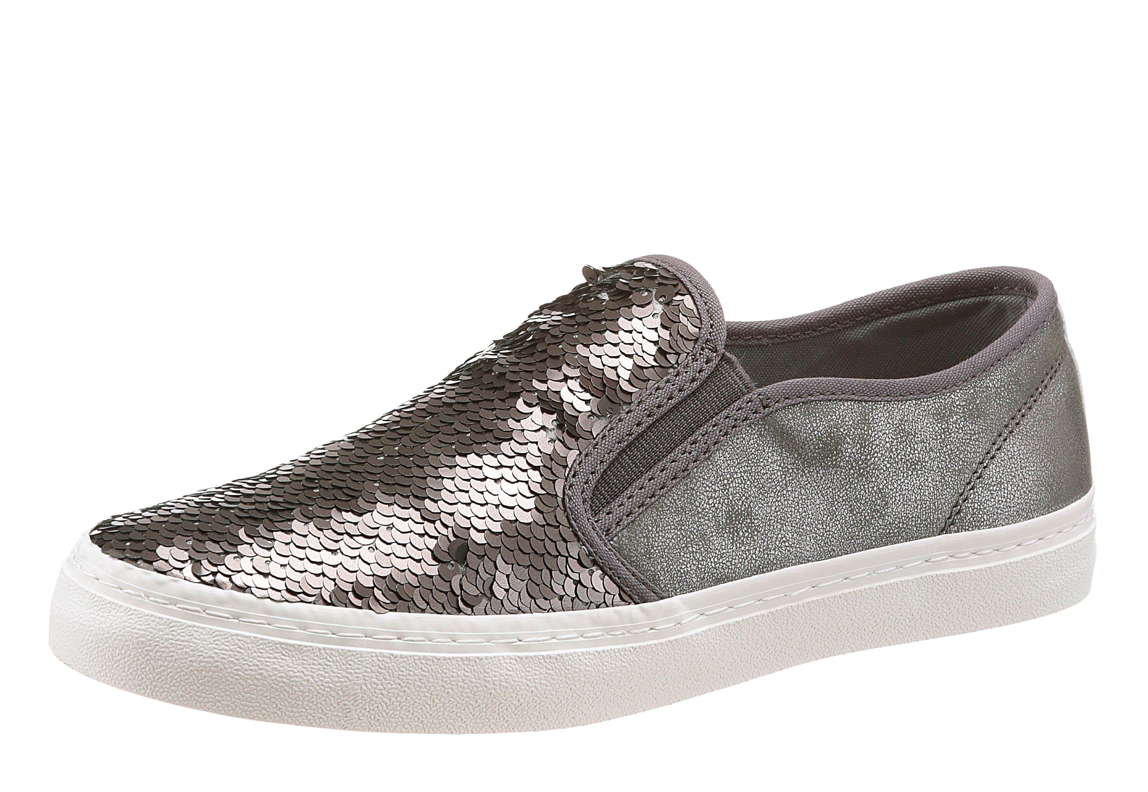 sOliver RED LABEL Sneaker, in trendigem Metallic Look online kaufen  taupe