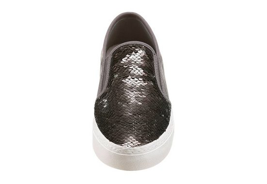 s.Oliver RED LABEL Sneaker, in trendigem Metallic Look