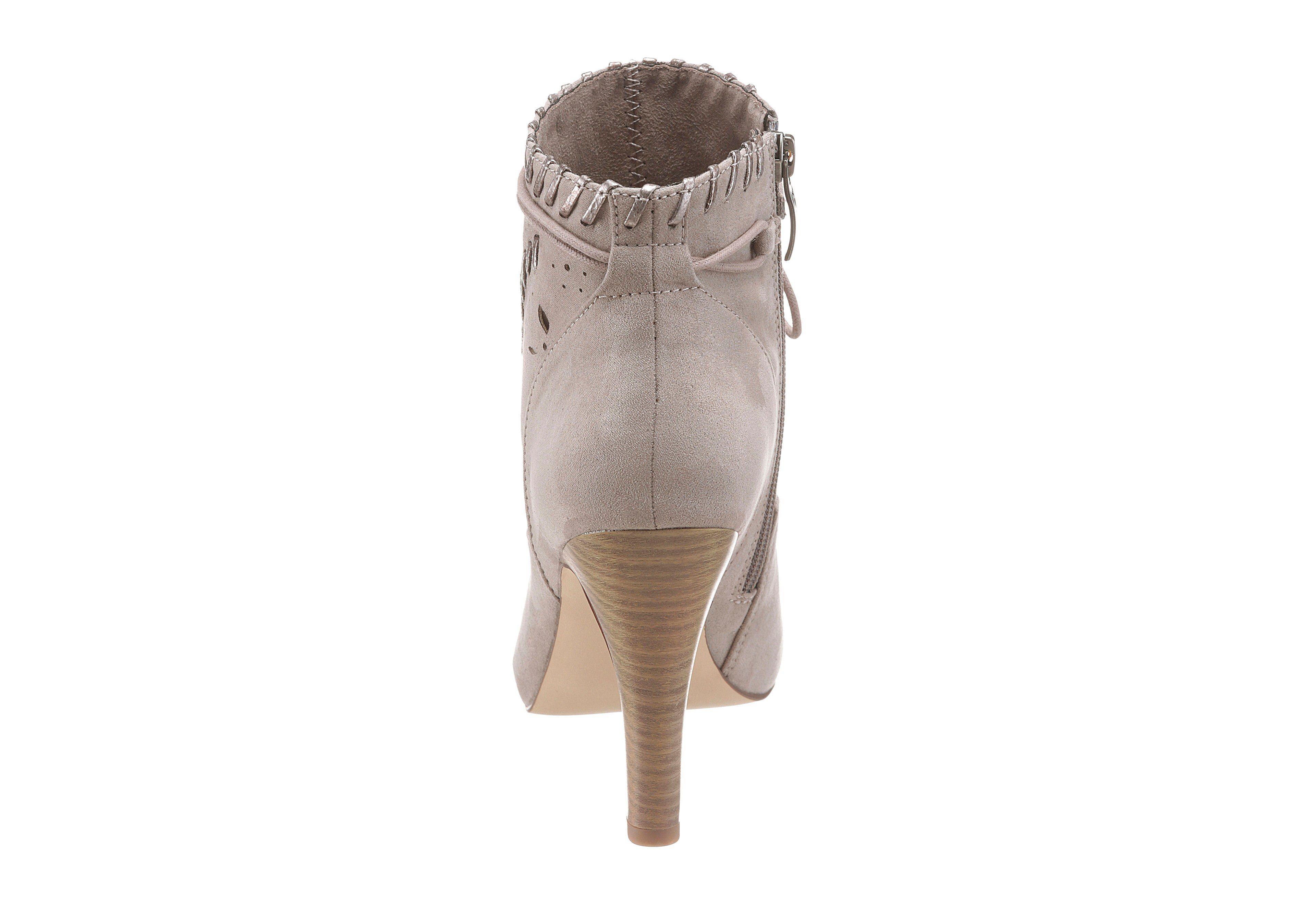 Tamaris High-Heel-Stiefelette, im Boho-Style  helltaupe