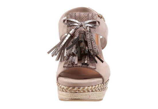 Tamaris Sandalette, mit modischer Metallic-Verzierung