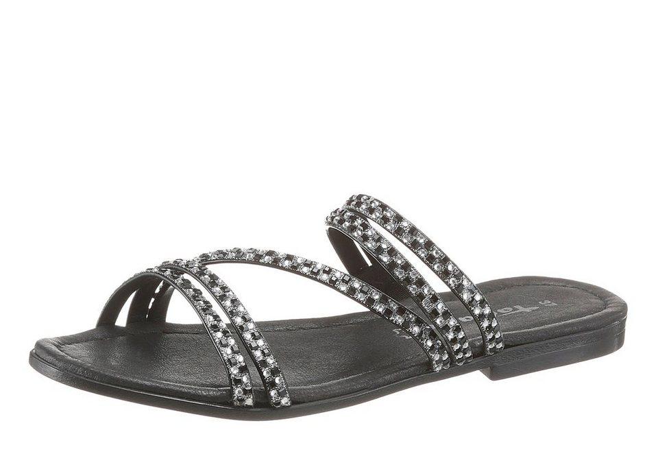 014eb28eee4295 Tamaris Pantolette mit Steinchenverzierung kaufen