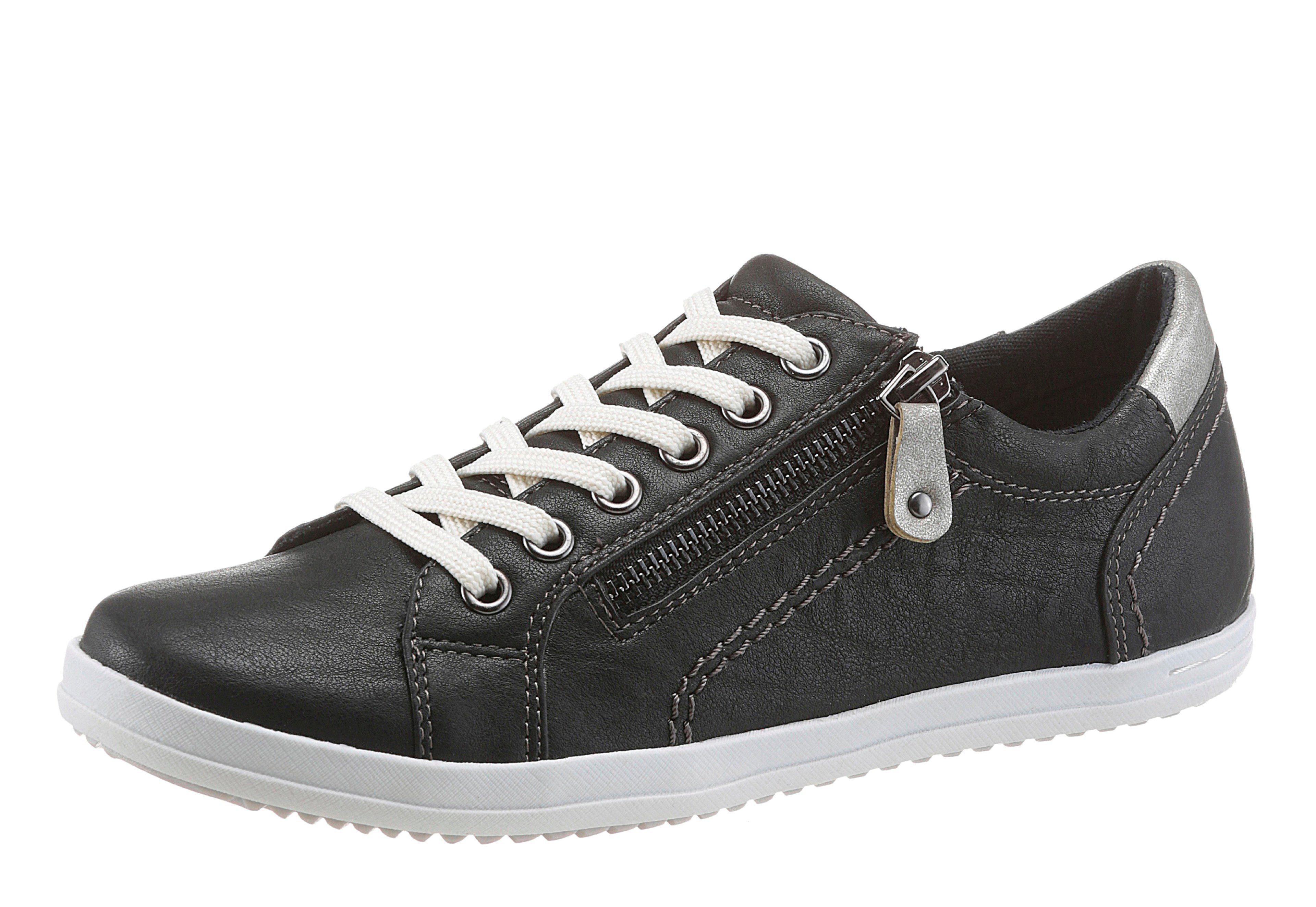 Arizona Sneaker, mit Häkeleinsatz, schwarz, 36 36