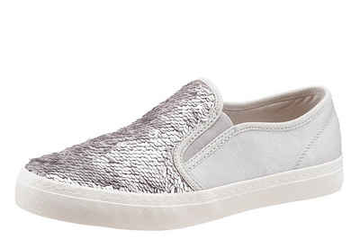 Bugatti Slip-On Sneaker, mit Genial Light Technologie, silber, 42 42