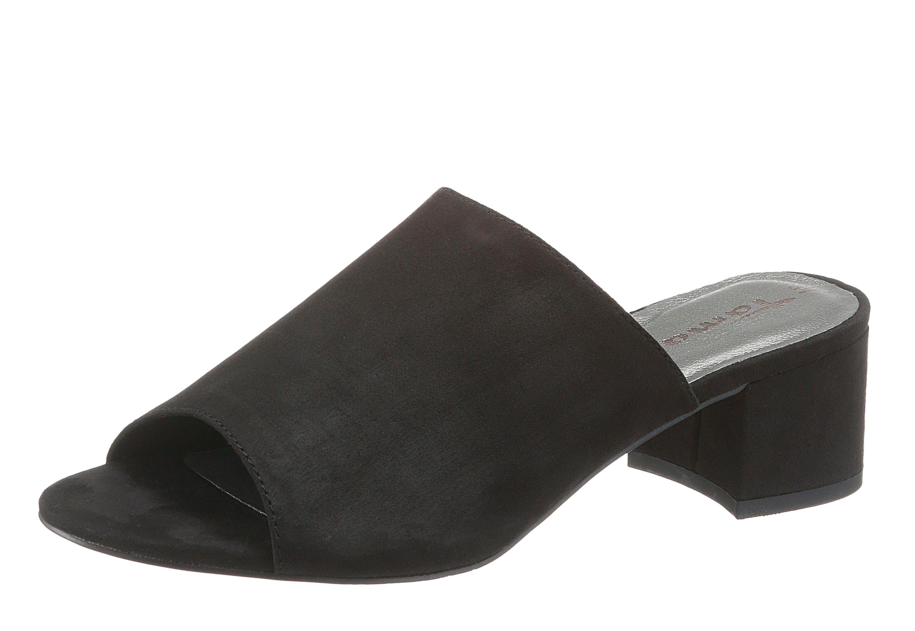 Tamaris Pantolette, mit markantem Blockabsatz  schwarz