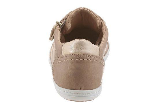 Arizona Sneaker, With Ornamental Zipper