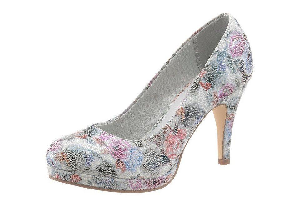 485e627864fd06 Tamaris Pumps mit zartem Blütenprint online kaufen