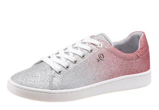 s.Oliver RED LABEL Sneaker, in funkelnder Optik