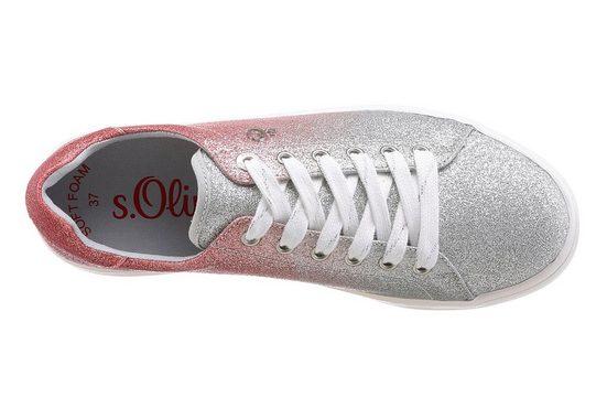S Funkelnder Sneaker Label Optik oliver In Red rwRqrzB