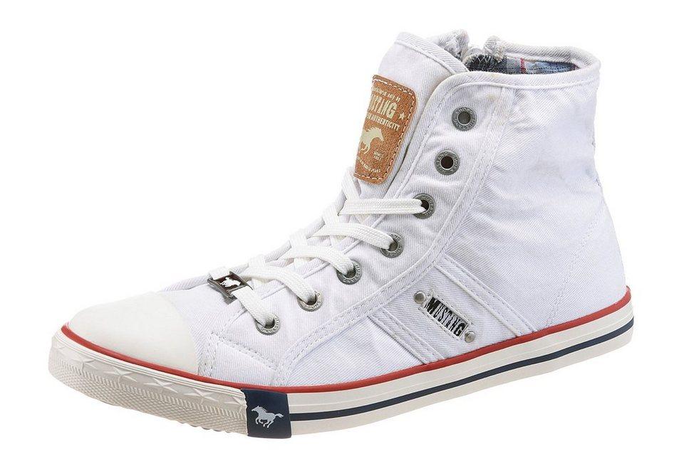 Mustang Shoes Sneaker mit trendigen Kontrastnähten in weiß